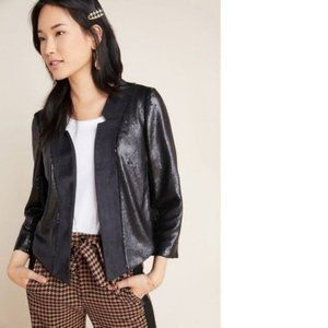 by Anthropologie Shonda Faux Suede Sequin Jacket